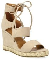 Frye Roberta Ghillie Nubuck Leather Wedge Sandals