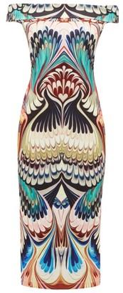 Mary Katrantzou Ireson Printed Off-the-shoulder Midi Dress - Multi