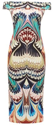 Mary Katrantzou Ireson Printed Off-the-shoulder Midi Dress - Womens - Multi
