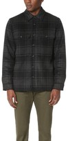 Vince Wool Plaid Military Jacket