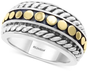 Effy Two-Tone Statement Ring in Sterling Silver & 18k Gold-Plate
