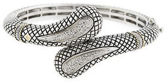 Candela Andrea Tesoro Blanco 18K & Silver 0.24 Ct. Tw. Diamond & White Topaz Earrings