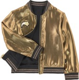 Little Marc Jacobs Reversible embroidered satin bomber jacket