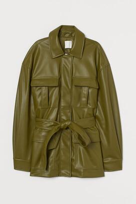 H&M Imitation leather jacket