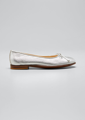 Gravati Metallic Leather Ballet Flats