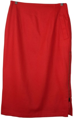 Genny Red Wool Skirt for Women
