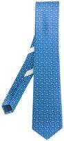 Salvatore Ferragamo Gancini and flag tie - men - Silk - One Size
