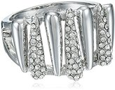 Vince Camuto Rhodium and Crystal Pave Metal Spike Ring, Size 7