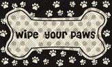Evergreen Wipe Your Paws Embossed Floor Mat, 18 x 30 inches