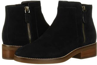 Cole Haan Rene Bootie 40 mm (Black Suede) Women's Shoes