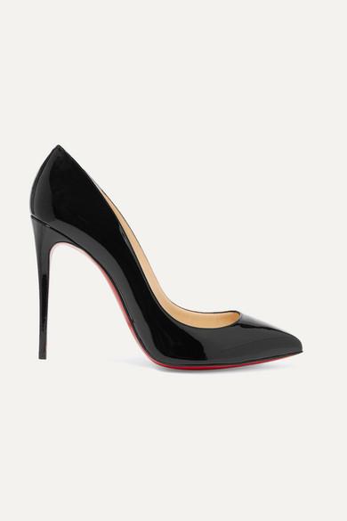 Christian Louboutin Pigalle Follies 100 Patent-leather Pumps - Black