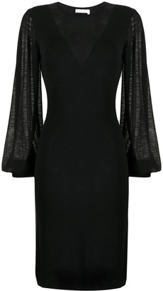 See by Chloe Semi-Sheer Midi Dress