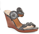 Jack Rogers Luccia Stardust Leather Wedges