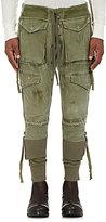 Greg Lauren Men's Cotton Army Tent & French Terry Pants-Dark Green