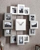 Fashion World Silver 12 Window Collage Clock Frame