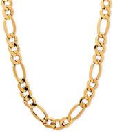 Macy's Men's Figaro Chain Necklace in Italian 10k Gold