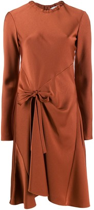 Chloé knot detail flared dress