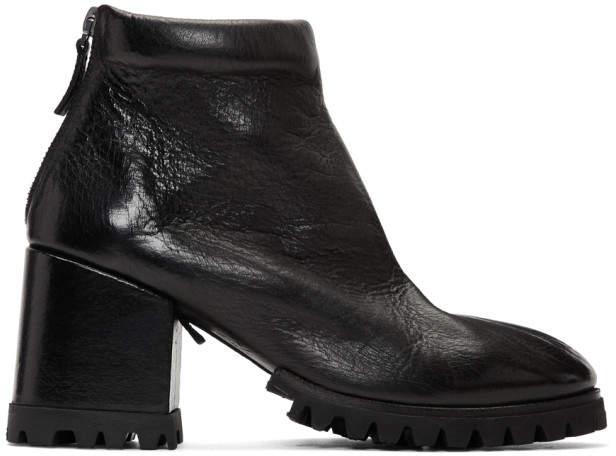 Marsèll Black Dente Lug Sole Boots