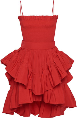 Philosophy di Lorenzo Serafini Tiered Taffeta Mini Dress