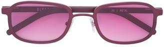 Blyszak red Steel frame III sunglasses with smoke lens