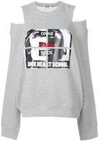 Sjyp cut-out shoulder sweatshirt