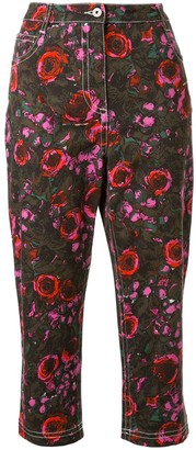 Marni Floral Print Cropped Jeans