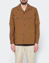 Lemaire Detachable Sleeve Overshirt in Coffee