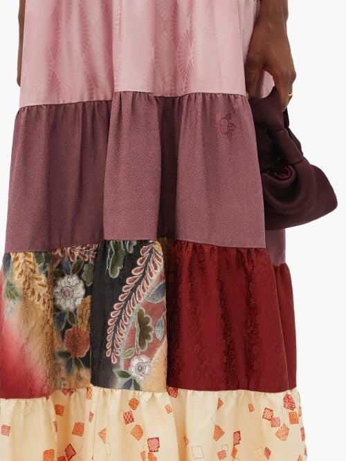 Thumbnail for your product : RIANNA + NINA Vintage Silk-satin Dress - Multi