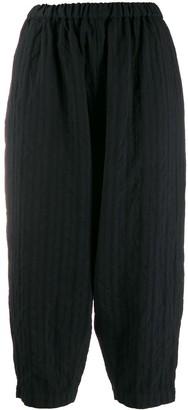 Comme des Garçons Comme des Garçons Striped Cropped Trousers
