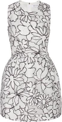Prabal Gurung Floral-Jacquard Mini Dress