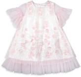 Kate Mack Little Girl's Floral Applique Embroidered Dress
