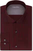 Calvin Klein Men's X Extra-Slim Fit Red Check Dress Shirt