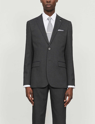 Ted Baker Beezly cocktail-pattern modern-fit woven blazer