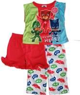 Disney PJ Masks Little Girl Short Sleeve 3pc Pajama Set