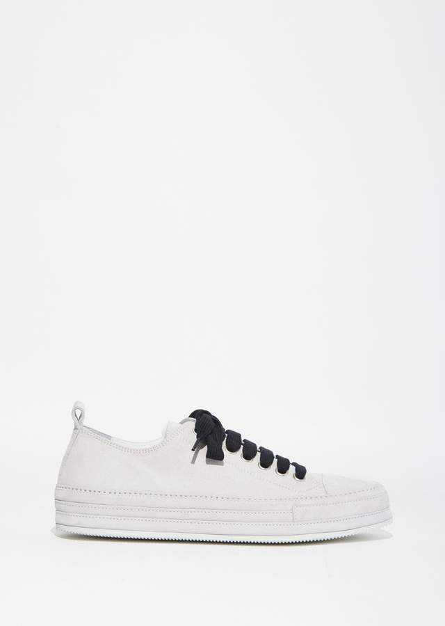 Ann Demeulemeester Scamosciato Sneakers Bianco/Lace Nero