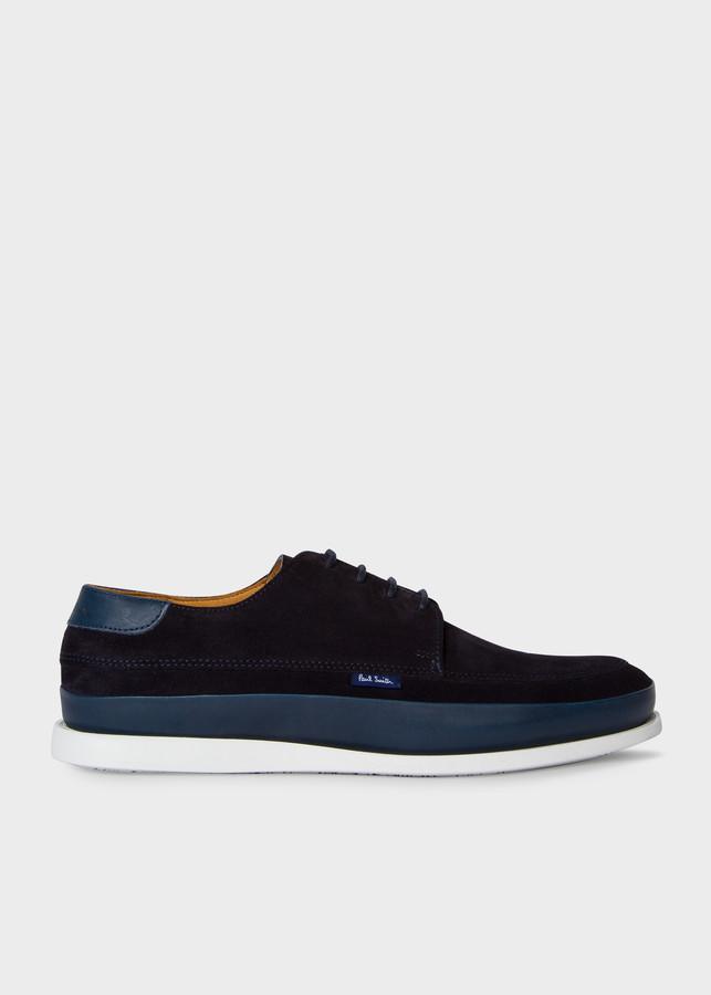 Paul Smith Men's Navy Suede 'Broc' Shoes
