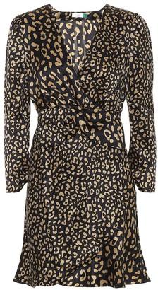 Rixo Leopard-print silk minidress