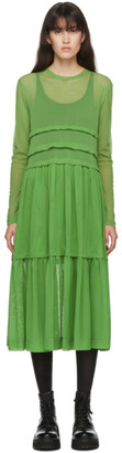 Molly Goddard SSENSE Exclusive Green Mia Dress