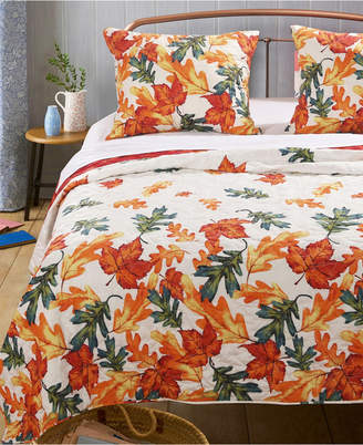 Greenland Home Fashions Falling Leaves Quilt Set, 3-Piece Full - Queen