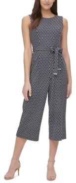 Tommy Hilfiger Rope-Print Belted Jumpsuit