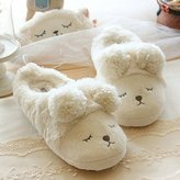 Ocean Unisex Cotton Slippers Soft Cute Cartoon Antislip Indoor Slippers Winter Warm Shoes Plush Home Slippers