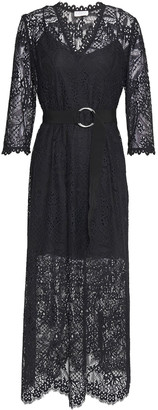 Claudie Pierlot Belted Lace Midi Dress