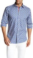 Bugatchi Printed Long Sleeve Shaped Fit Shirt