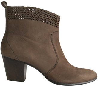 AERIN Brown Suede Ankle boots