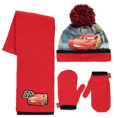 Cars George Disney Pixar 3 3 Piece Hat, Scarf and Gloves Set