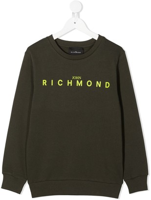 John Richmond Junior Logo Print Sweatshirt