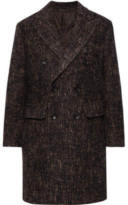 Incotex Double-Breasted Herringbone Wool-Blend Overcoat