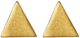 Dogeared 14K Gold Plated Sterling Silver Triangle Stud Earrings