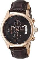 GUESS GUESS? W14052G2 43mm Stainless Steel Case Leather Acrylic Men's Watch