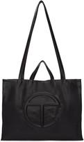 Telfar Black Large Logo Tote Bag